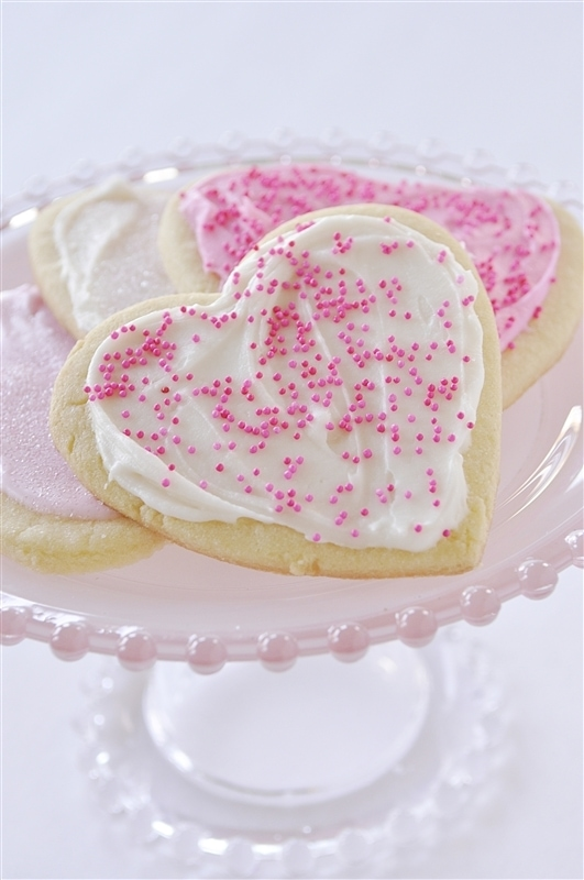 ... shaped sugar cookies for Valentines. I love me a good sugar cookie