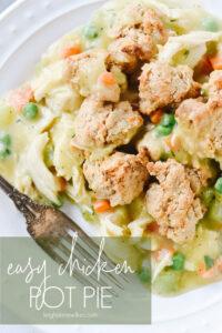 chicken pot pie on plate