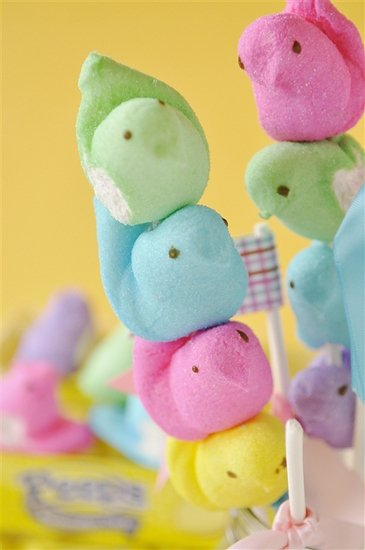 Peeps on a stick are easy to make and only take few