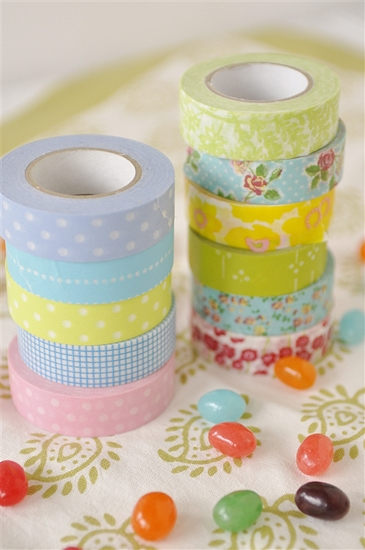two stacks of washi tape