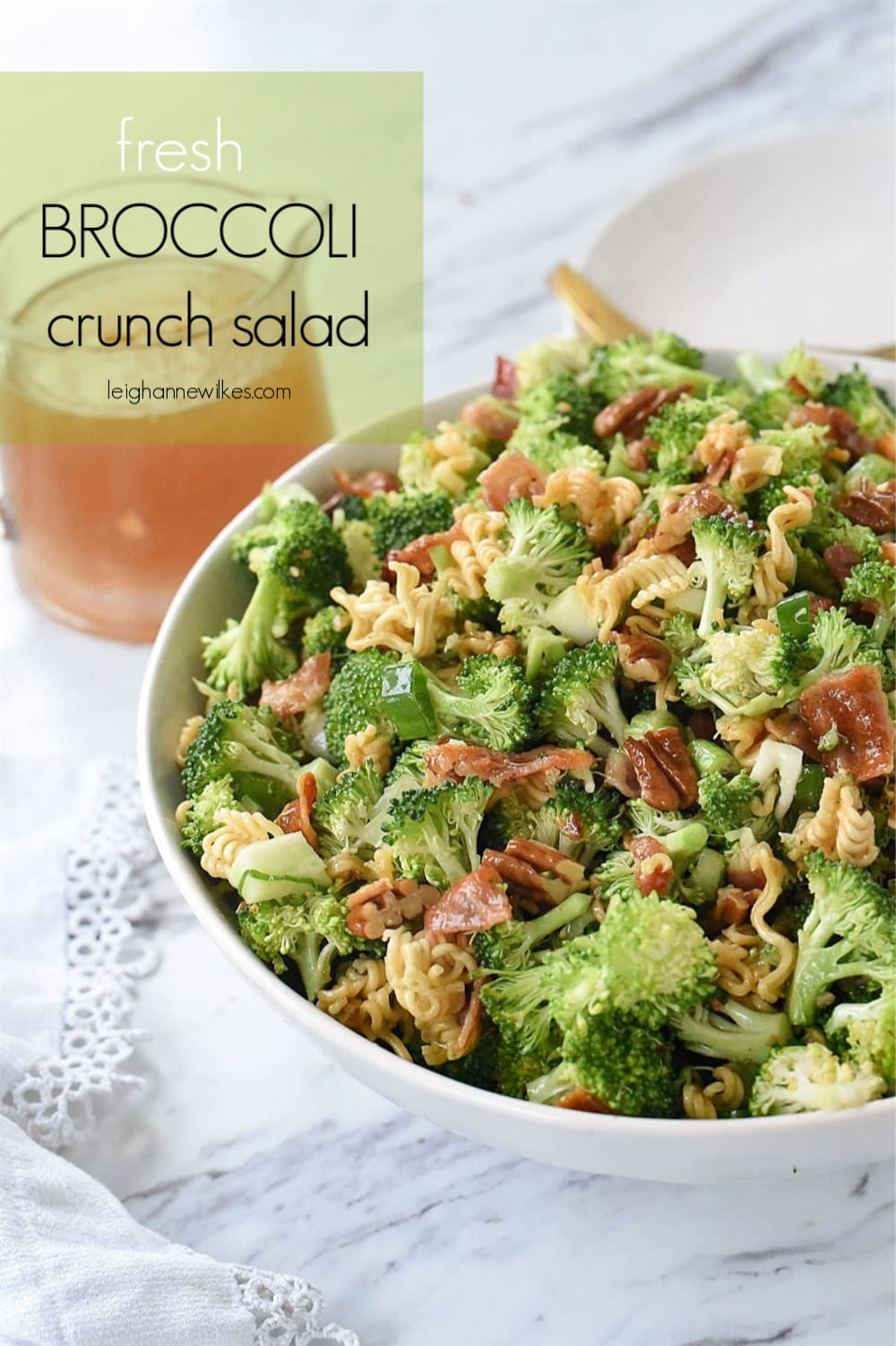 bowl of broccoli crunch salad