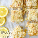 overhead image of lemon curd bars
