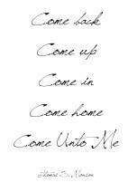 A Thought}Come Unto Me