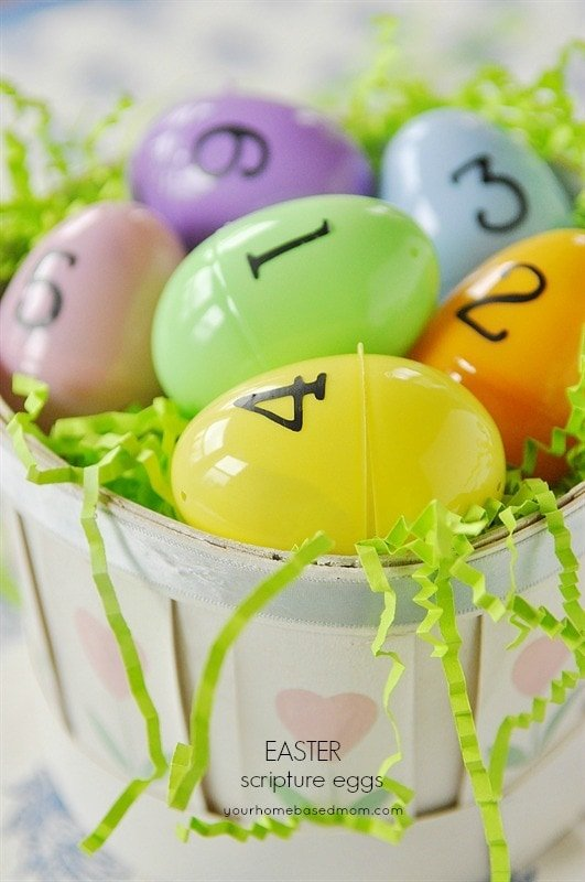 Easter Scripture Egg Activity Your Homebased Mom
