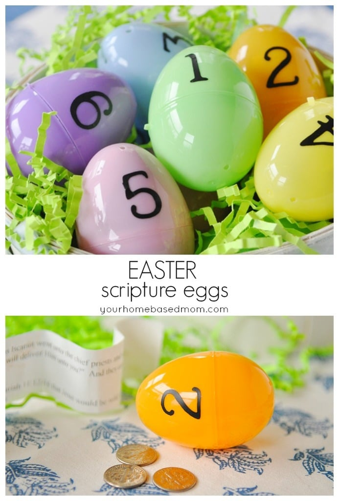 Easter Scripture Eggs from yourhomebasedmom