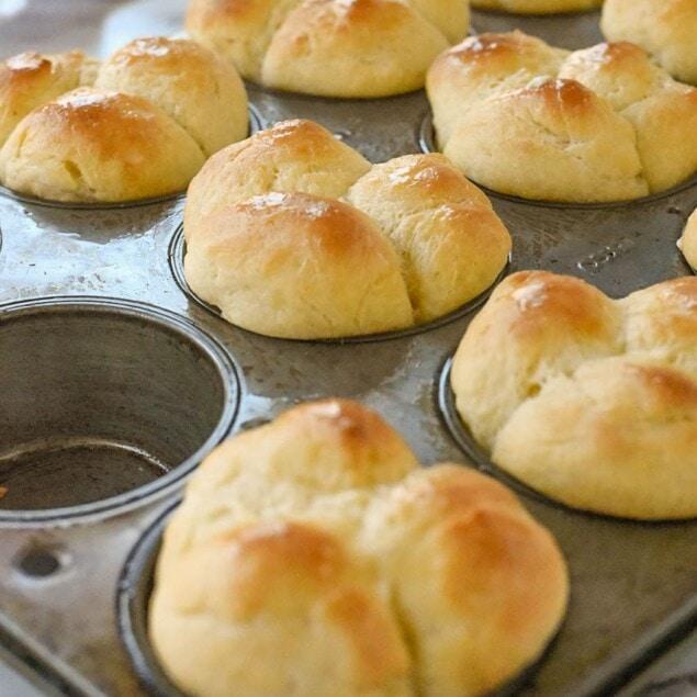 rolls in a muffin tin