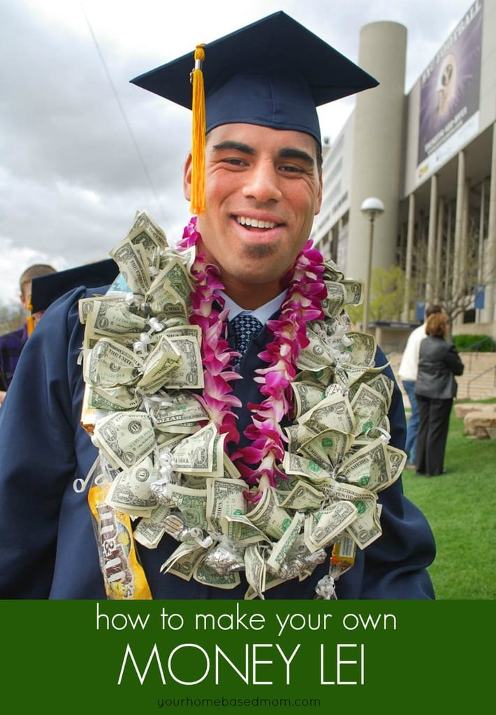 Every graduate needs some cash and this money lei is a fun and creative way to give the gift of cash to a graduate.  If you have been looking for the perfect graduation gift idea, look no further!