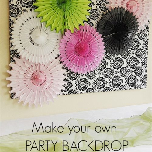 Make Your Own Party Backdrop