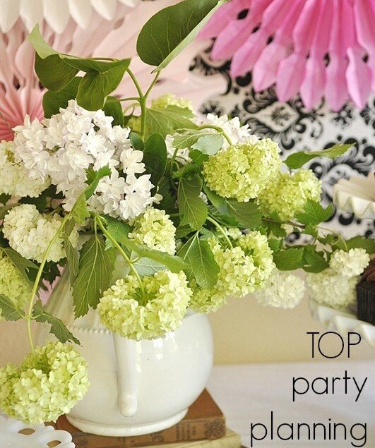 top tips for planning a party