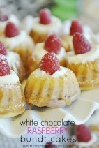 White Chocolate and Raspberry Bundt Cake