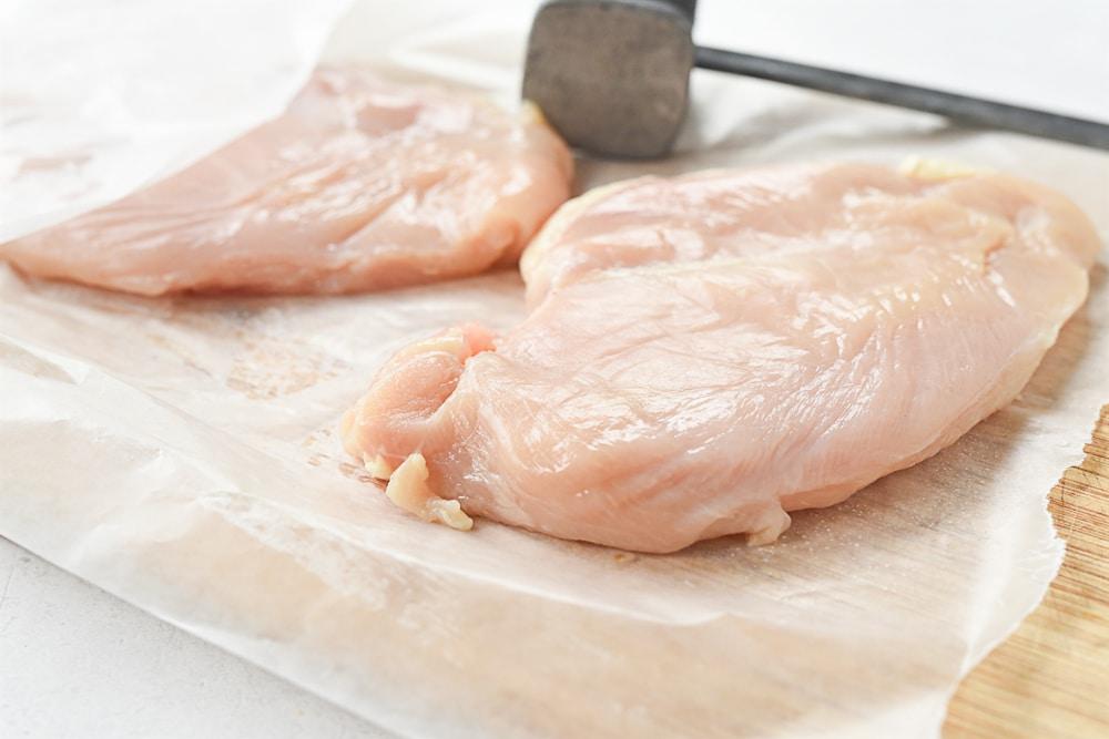 pounding chicken thin
