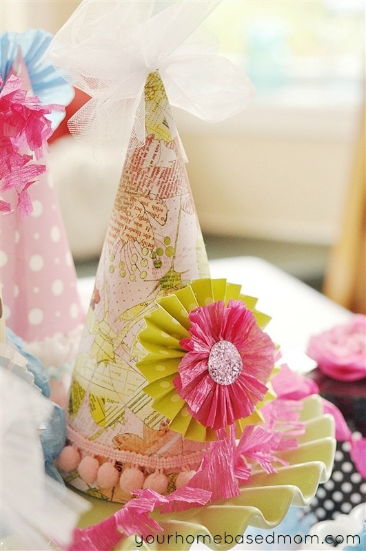 I Used Crepe Paper Streamers To Create Ruffles And Rosettes Decorate The Hats With