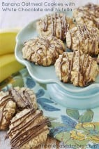 Banana Oatmeal Cookies with White Chocolate and Nutella