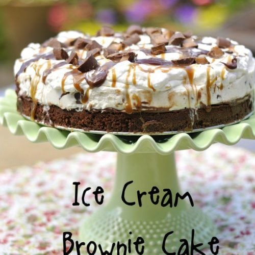 Ice Cream Brownie Cake with Rolo Recipe