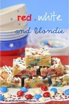 M & M Blondies – Red, White & Blondie
