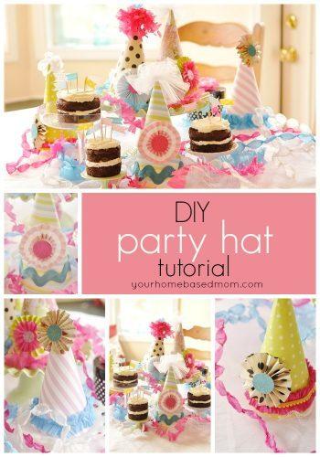 birthday party hat tutorial. Black Bedroom Furniture Sets. Home Design Ideas
