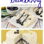 Lemon Blueberry Marble Cake is pretty and delicious! Sure to impress your guests.