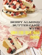 berry almond butter cake