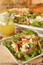Caramelized Walnut and Pear Salad