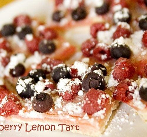 Raspberry Lemon Squares } Kristen Duke Photography