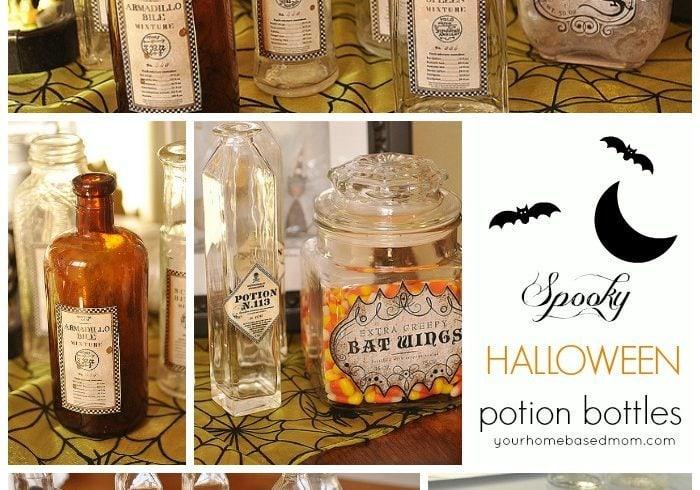 Spooky Halloween Potion Bottles