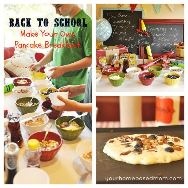 Make Your Own Pancake Back to School Breakfast 1