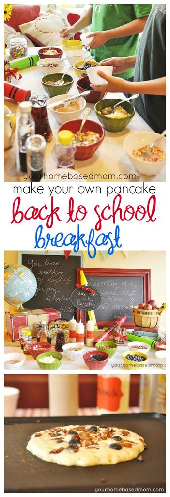 Send the kids off to the first day of a school with a Make Your Own Pancake Back to School Breakfast!