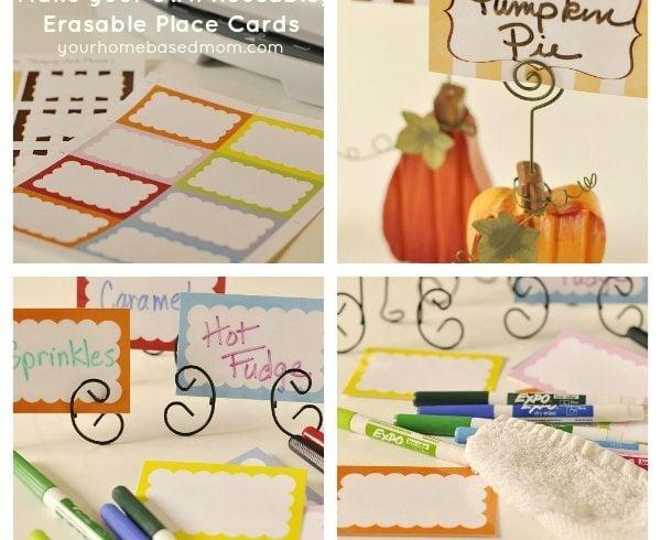 Reusable, Erasable Place Cards