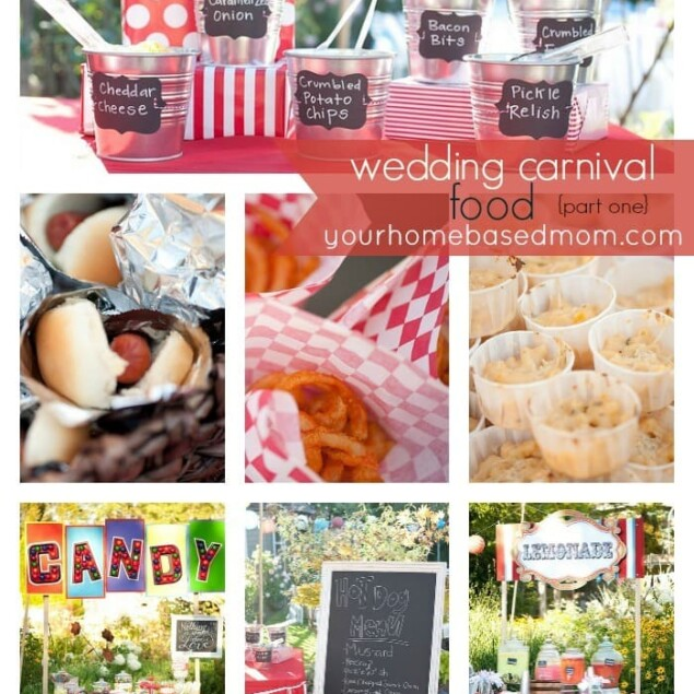 collage of carnival food ideas