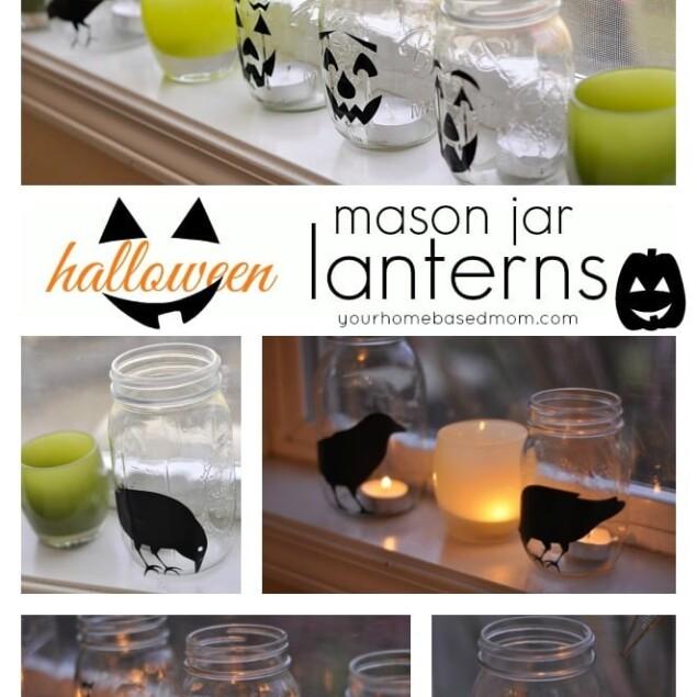 halloween lantern collage
