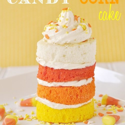 Candy Corn Cake and Tutorial