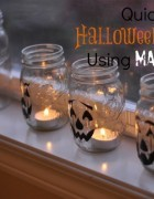 Quick & Easy Halloween Decor Using Mason Jars