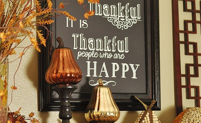 Thanksgiving Decor, Giveaways and a Little Housekeeping