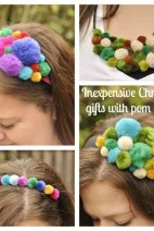 Pom Pom Headbands and Bib Necklaces