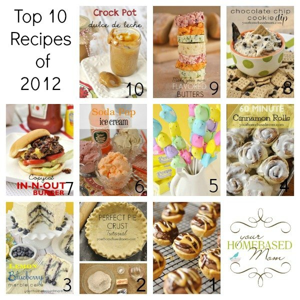 Top 10 Recipes of 2012 @yourhomebasedmom.com