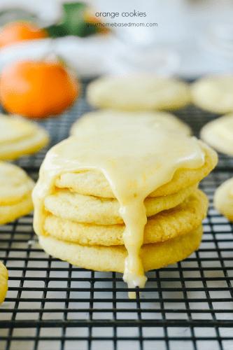 orange cookies with orange glaze