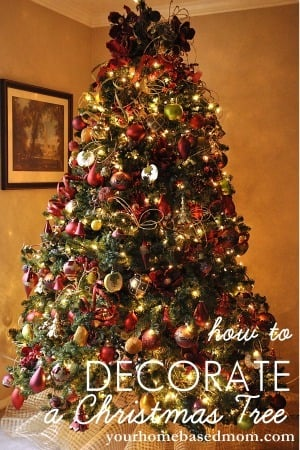 how to decorate a christmas tree tutorial. Black Bedroom Furniture Sets. Home Design Ideas
