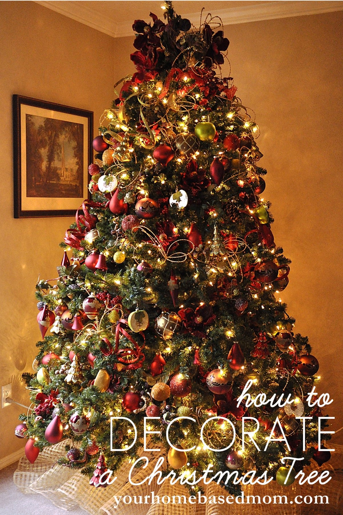 decorate a christmas tree - How To Decorate A Staircase For Christmas With Deco Mesh
