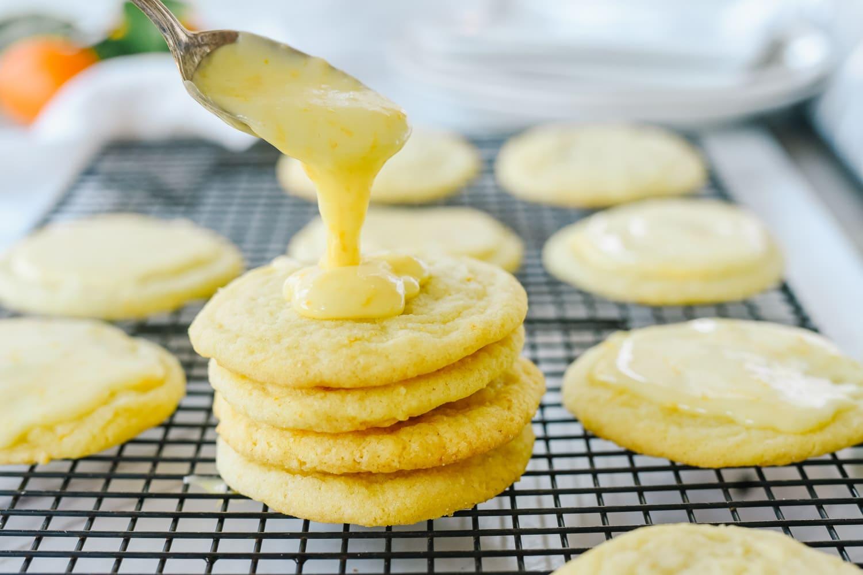 Frosting Orange Cookies
