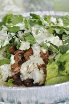 Cafe Rio Sweet Pork Salad & Creamy Tomatillo Salad Dressing