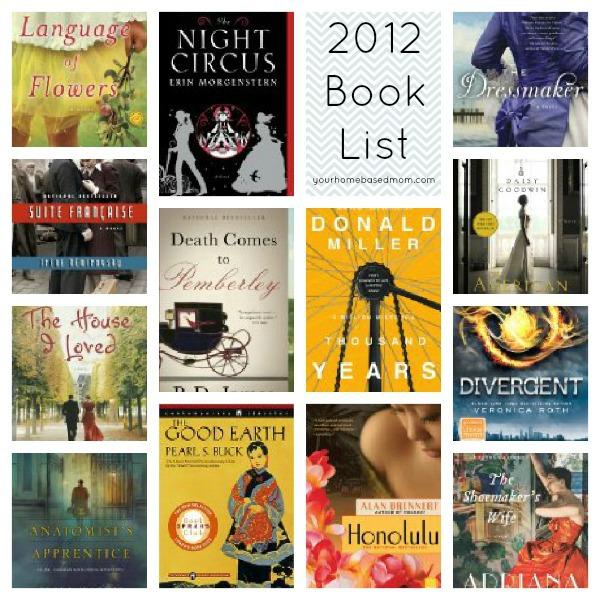 2012 Book List @yourhomebasedmom.com