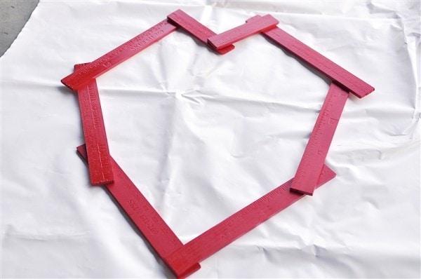Valentine Yardstick Heart