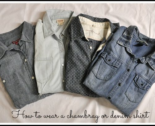 How to Wear a Chambray or Denim Shirt and Shabby Apple Giveaway