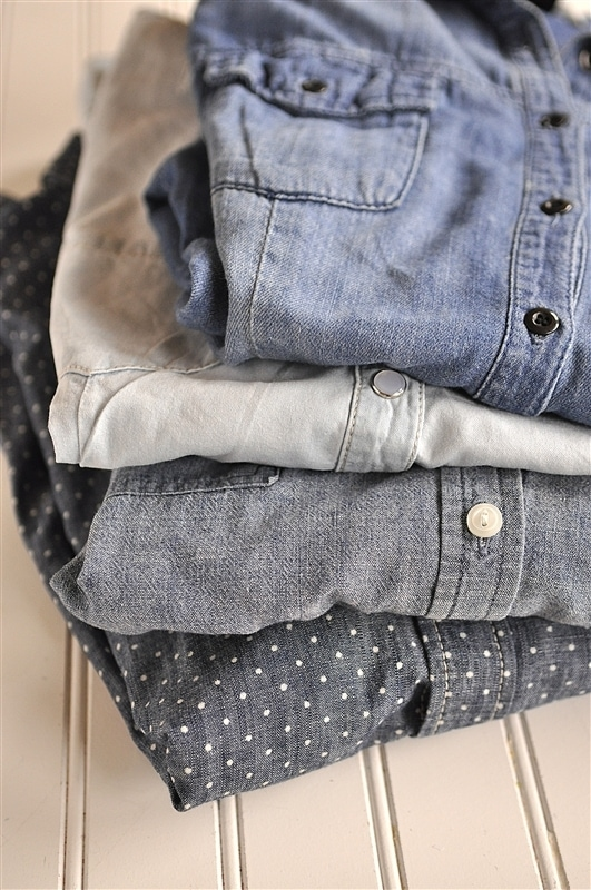 how to wear chambray shirt pinterest