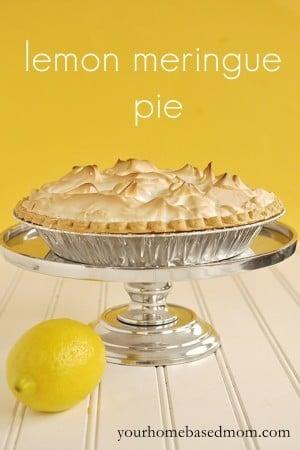Lemon Meringue Pie, Family Stories and Meringue Tutorial