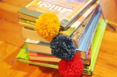 Pom Pom Bookmarks & Book Review {Activity Day Idea}
