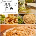 collage of pictures of apple pie