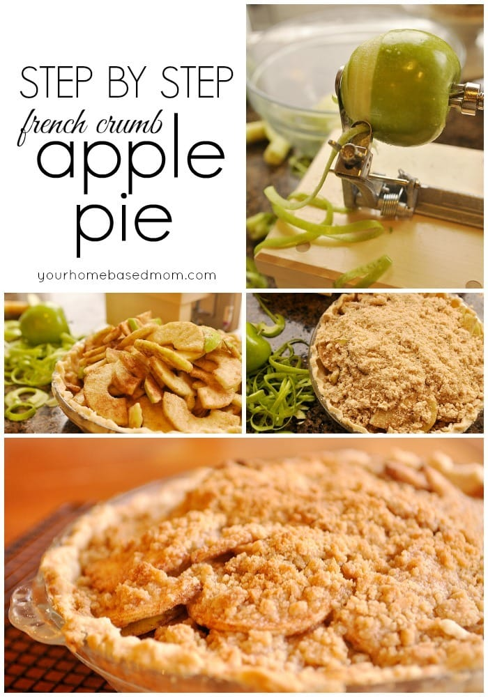 French Crumb Apple Pie {Activity Day Idea}