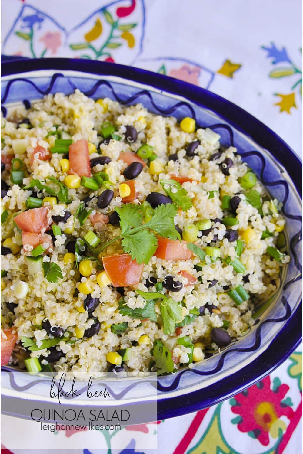 Quinoa Black Bean Salad in a bowl