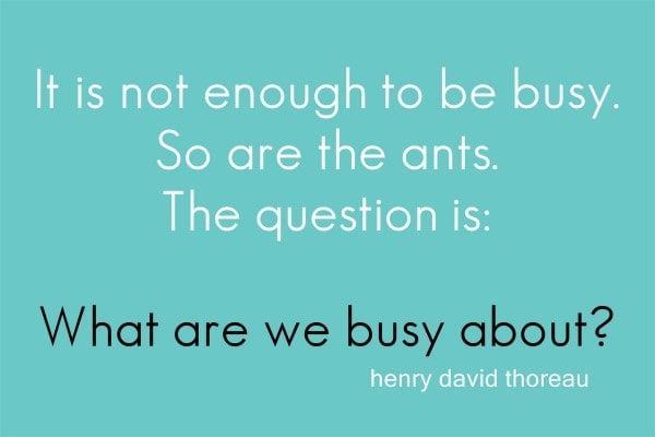 The art of being busy